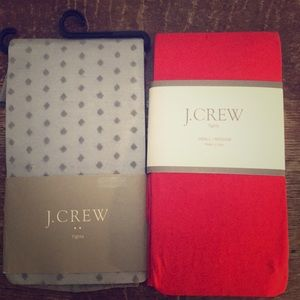 J Crew Tights in Grey and Red